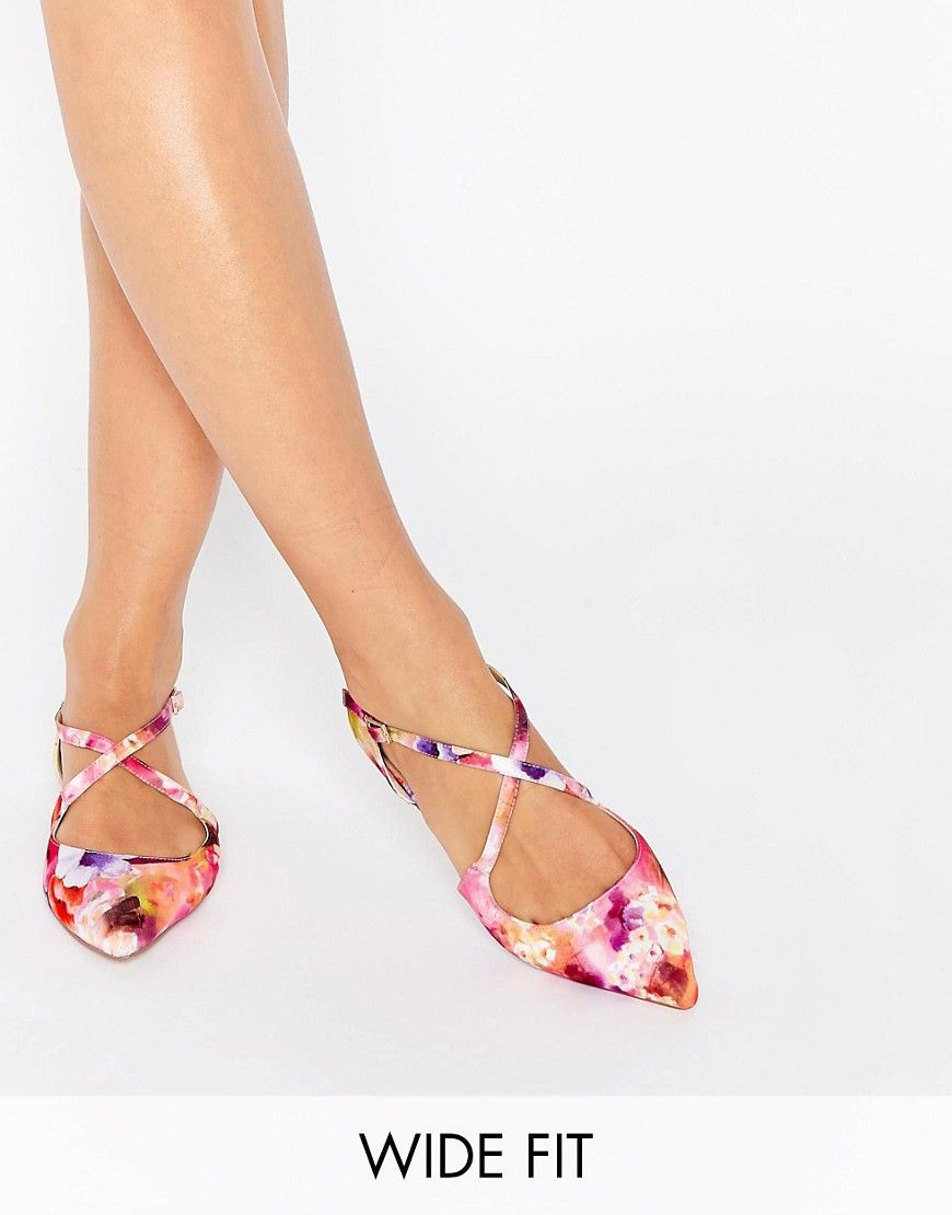 c78b450b21c Image 1 of ASOS LIVE FOR THE MOMENT Wide Fit Ballet Flats