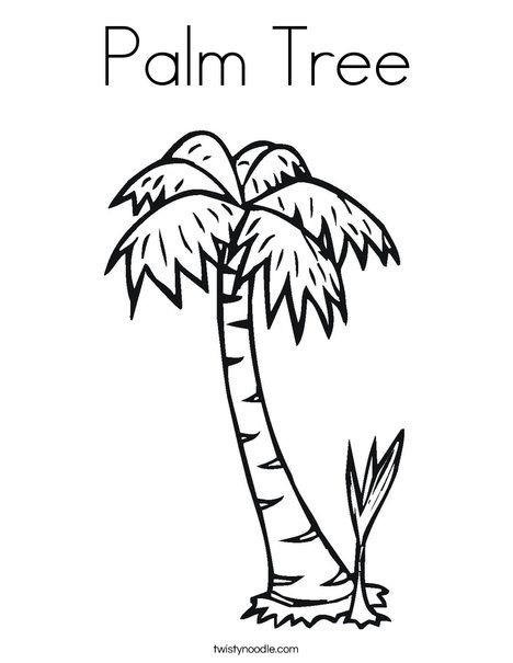 Palm Tree Coloring Page | Luau Party Craft | Pinterest | Palm ...
