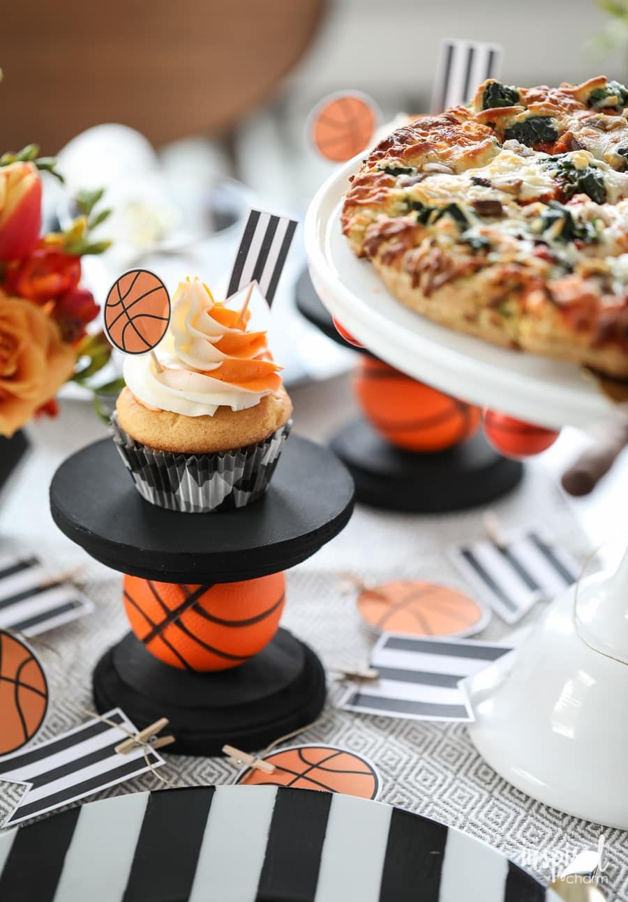 Diy cupcake stand diy basketball entertaining ideas