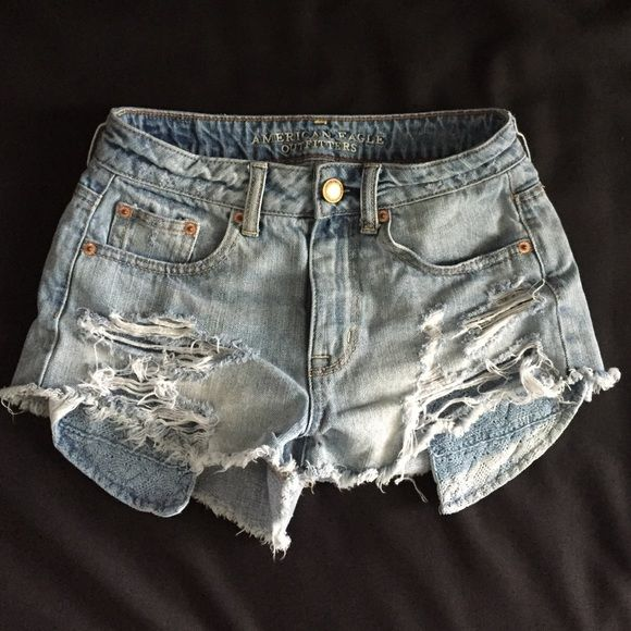 a538545413 American Eagle Shorts Ripped American Eagle jean shorts, from last year and  in awesome condition, I just grew out of them! American Eagle Outfitters  Shorts ...
