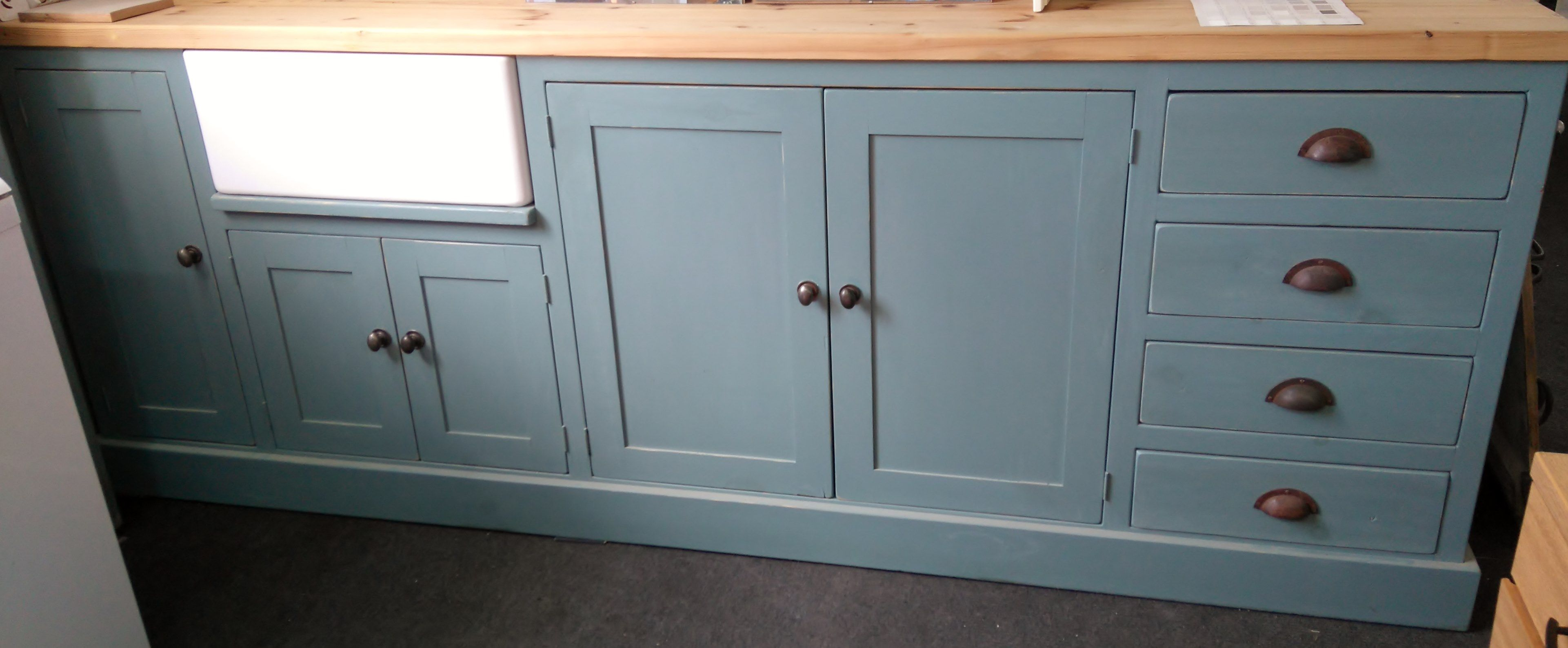 Best 8Ft Kitchen Sink Run Units Painted In Farrow Ball Oval 400 x 300