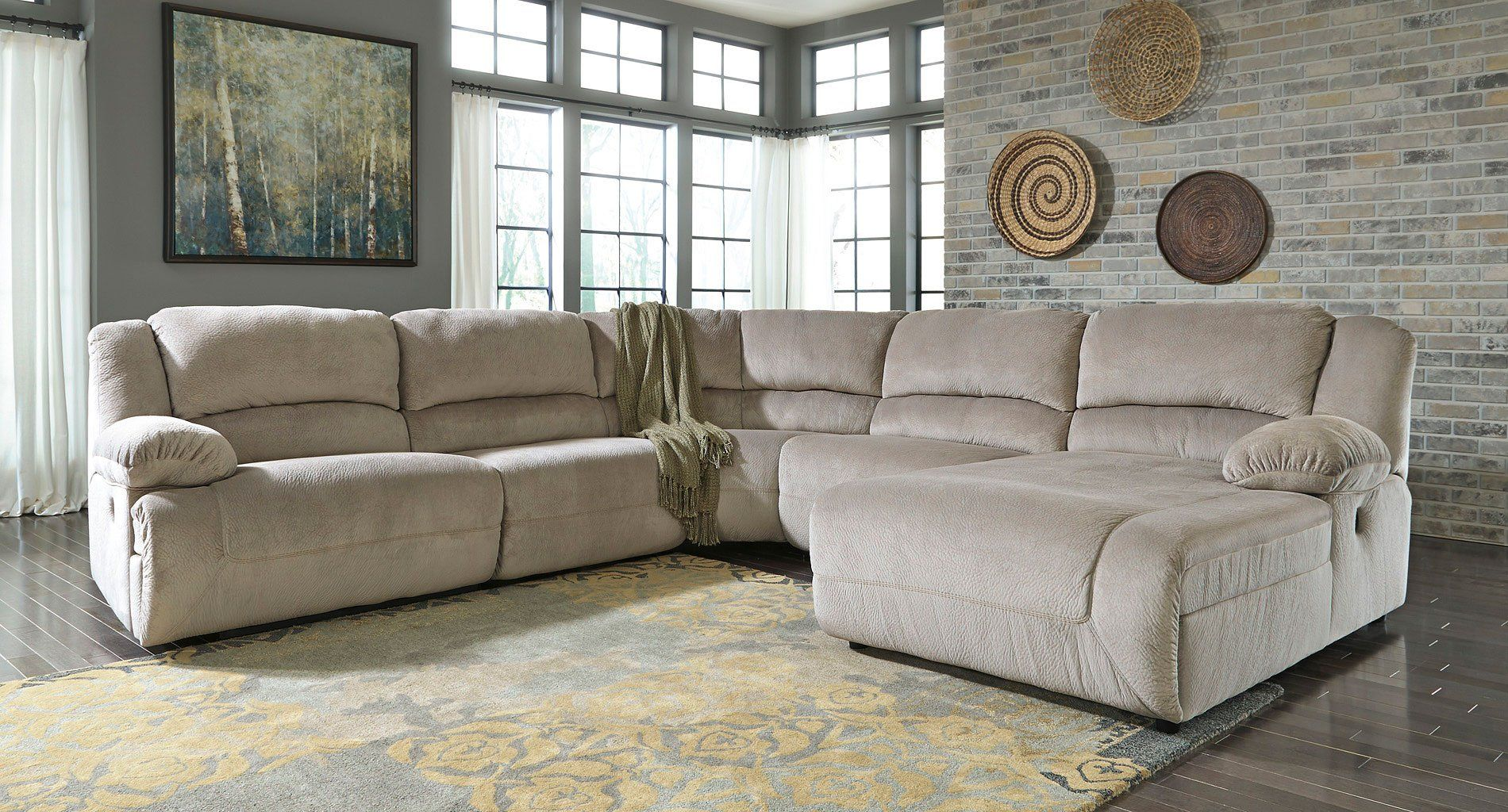 Toletta Granite Reclining Sectional Sectional Sofa With Recliner Reclining Sectional With Chaise Reclining Sectional