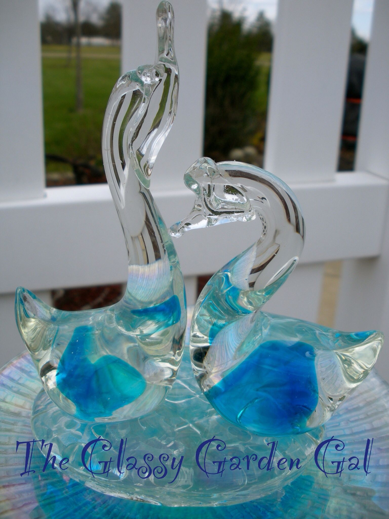 Garden Totem, Glass Garden Art, Yard Art, Repurposed Recycled Up Cycled  Glass,