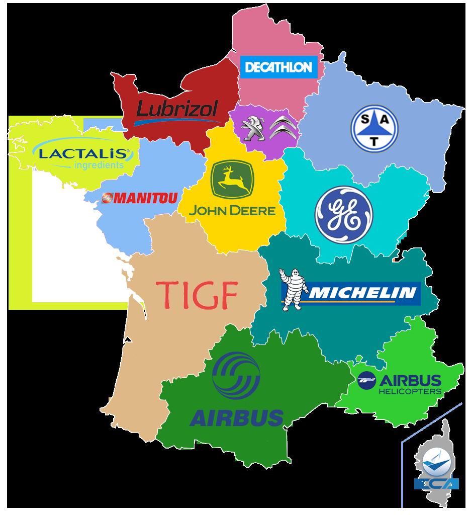 CARTE. Quels sponsors pour les régions françaises? en 2020