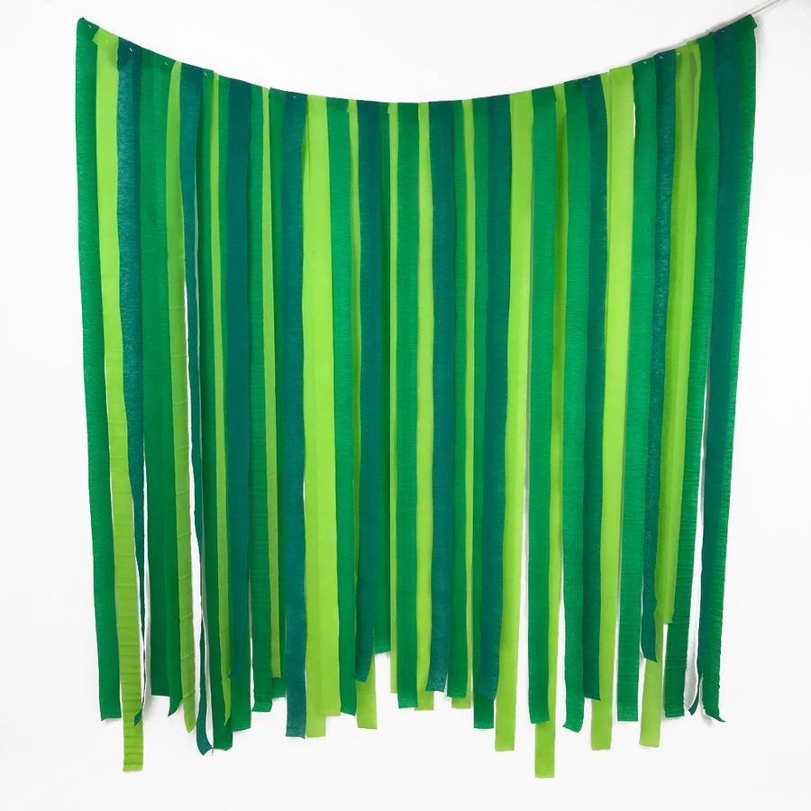 Green Paper Streamer DIY Backdrop Kit