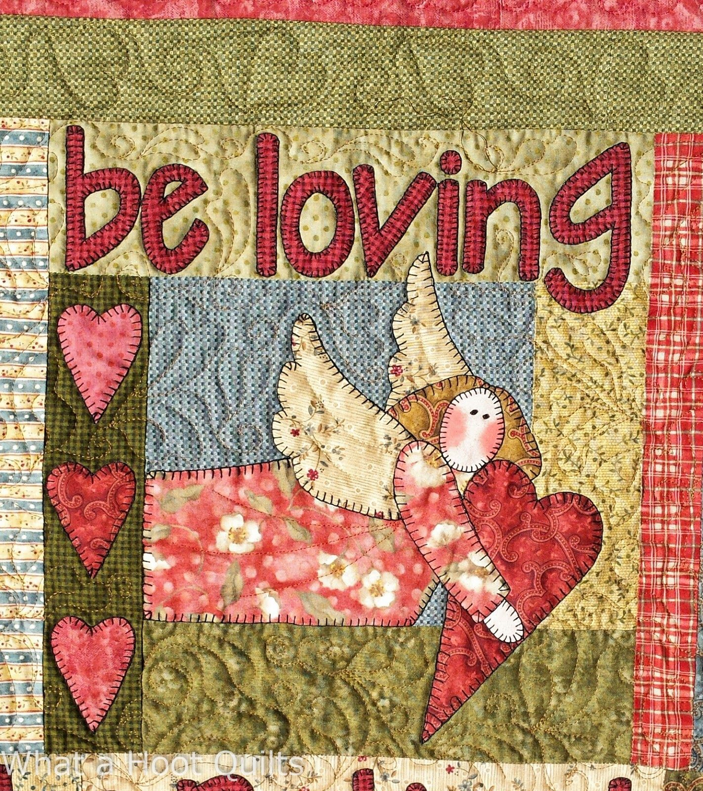 Be Loving Angel Block At What A Hoot Quilts Be Attitudes