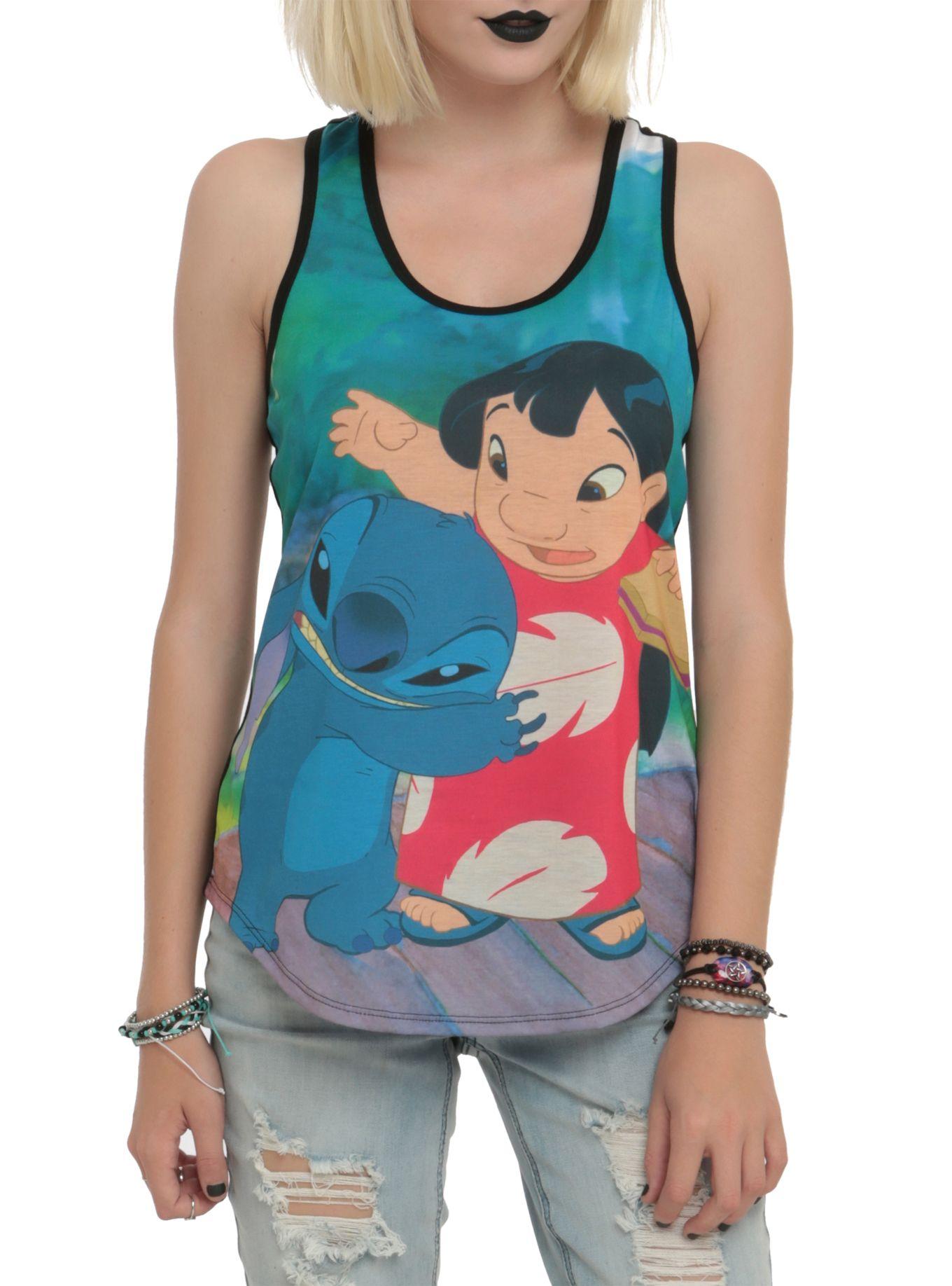 d3fd1db100e378 Disney lilo stitch duo sublimation girls tank top hot topic jpg 1360x1836  Lilo and stitch tank