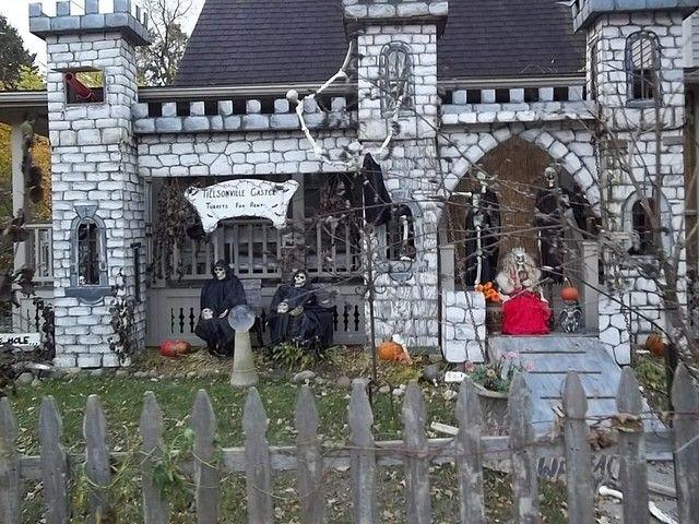 Halloween Castle Facade Halloween Outdoor Decorations Halloween