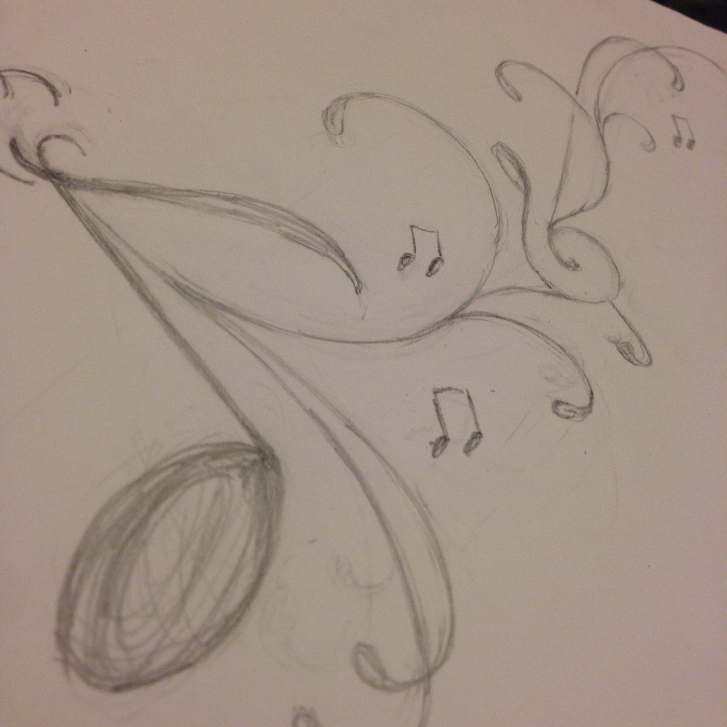 90d579e6b Pencil sketch music tattoo idea (Beautiful sketch by my friend...)