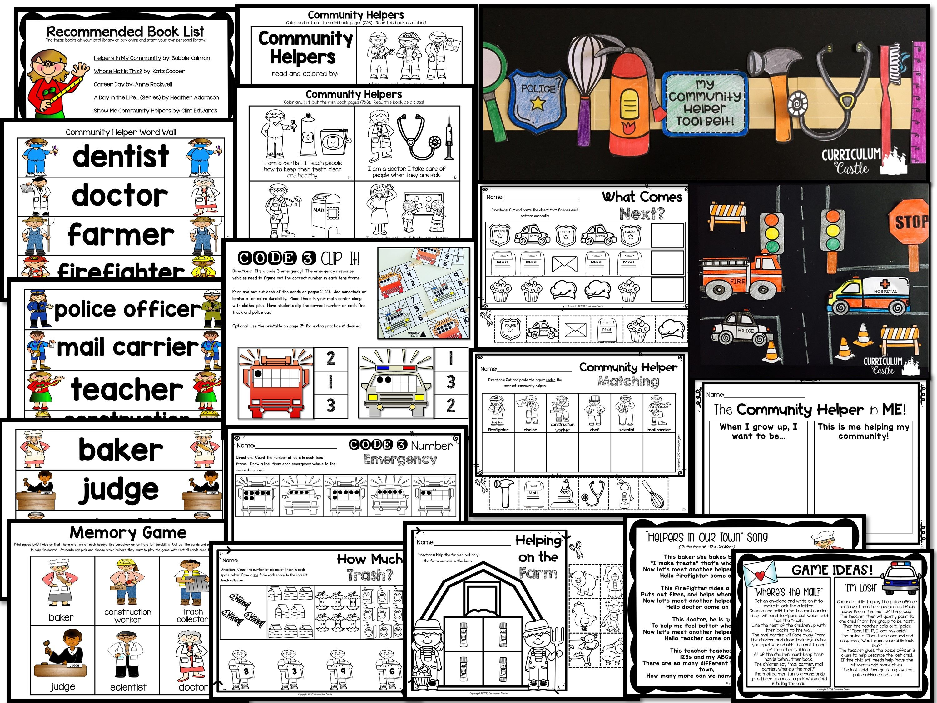 Community Helpers Thematic Unit Activities And Printables