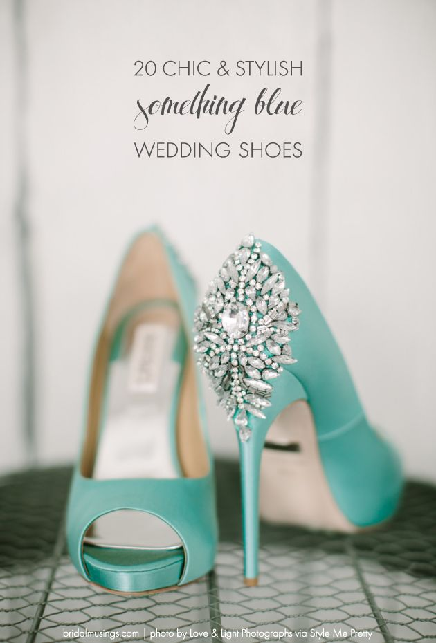 "62e9648aceb4 Top 20 ""Something Blue"" Wedding Shoes"