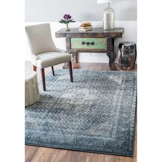NuLOOM Traditional Vintage Fancy Blue Rug 6 X 9 Grey Size