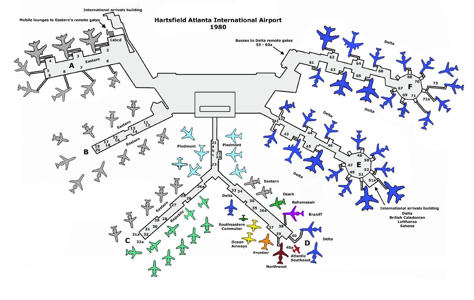 Atlanta Airport 1980