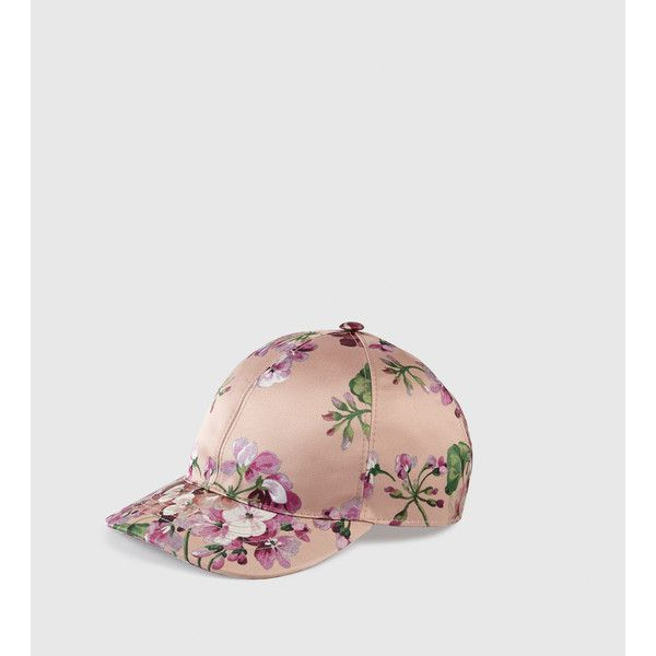 Gucci Blooms Silk Baseball Hat (£230) ❤ liked on Polyvore featuring  accessories,. Chapeaux De BaseballCasquettes ... bf2b3151133