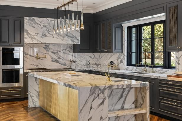 Floor-to-ceiling cabinets ensure that the owners have ...