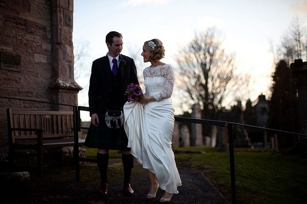 Stephanie Allin Lace For An Elegant Scottish Winter Wedding