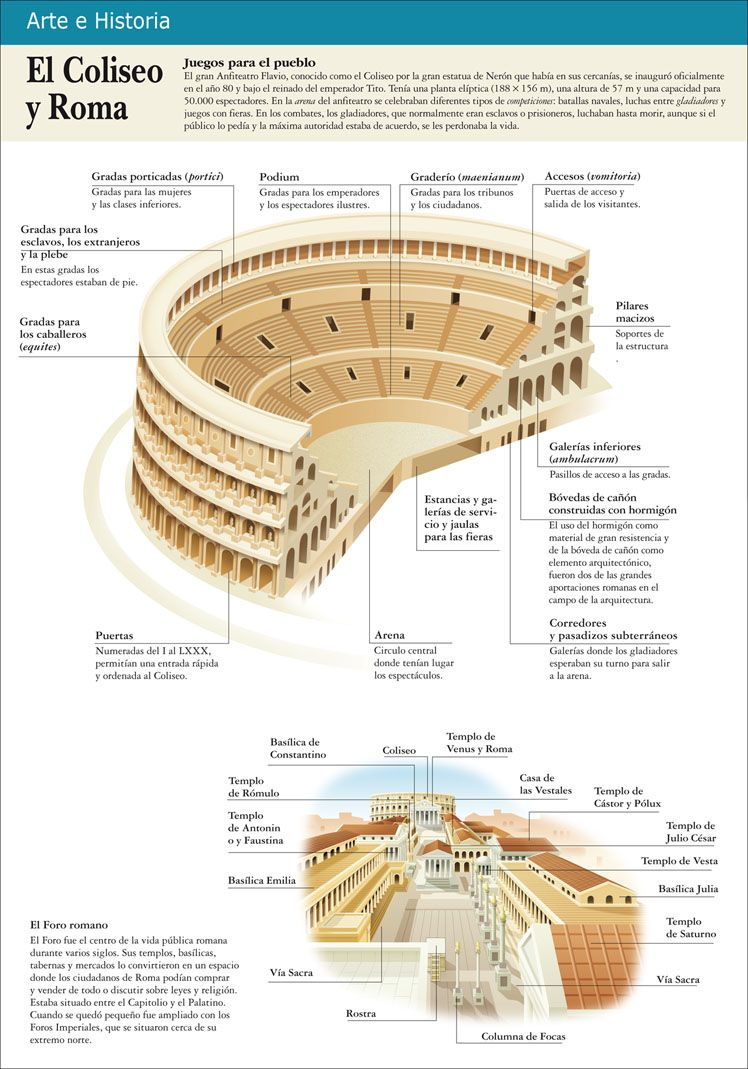 Infografias educativas el coliseo de roma historia for Infografia arquitectura
