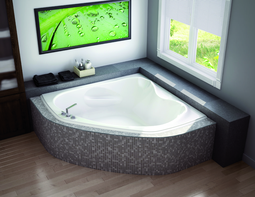 Small corner bathtub dimensions hot tubs jacuzzis for Bathtub length