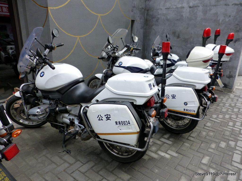 Police Bikes Bmw Shanghai China Setcom Motorunit Police