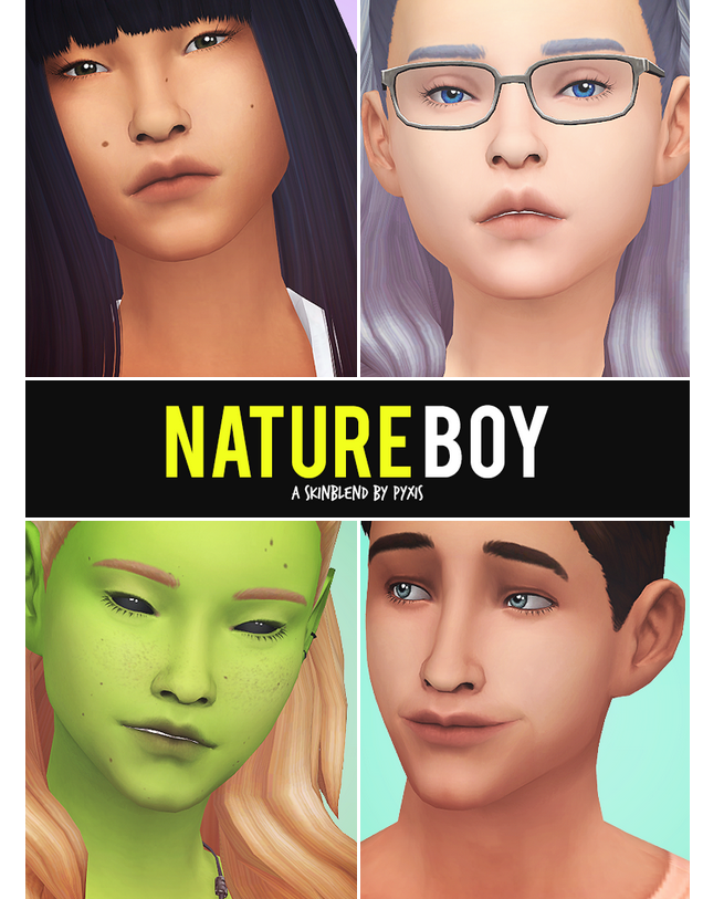 Skin Overlay Match Maxis Sims 4
