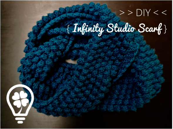 Free Crochet Pattern Popcorn Stitch Infinity Scarf Make It Lucky