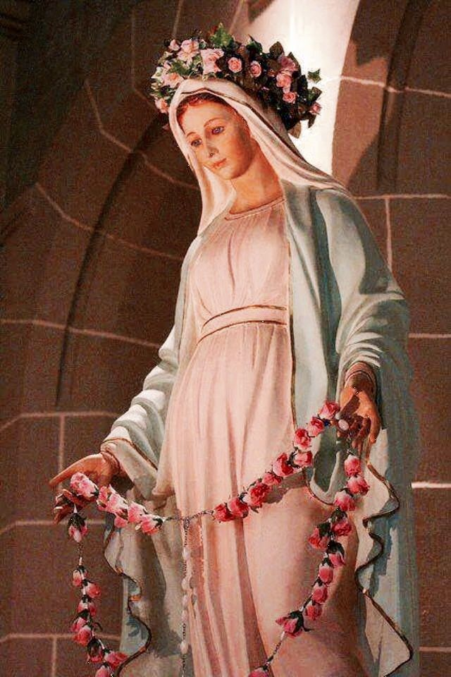 Mary and rose rosary