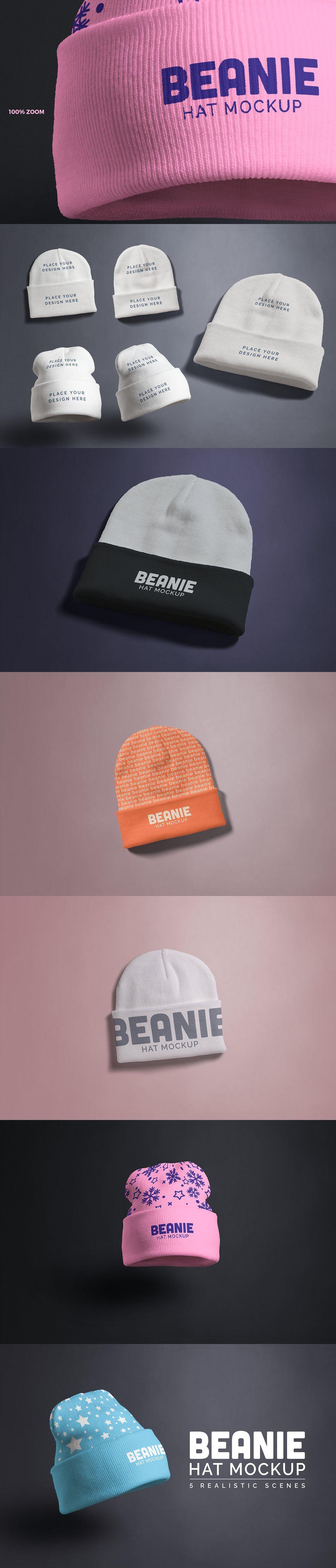 Beanie Hat Mockup in 2020 Beanie hats, Winter design