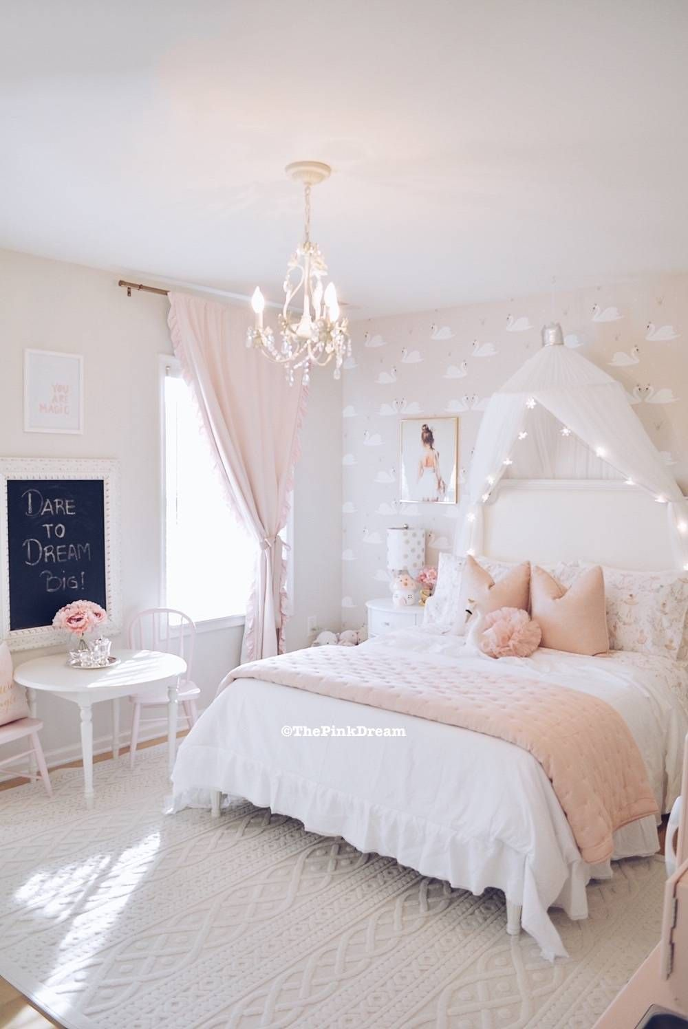 A Pink Ballerina & Swan Toddler Bedroom - The Pink Dream