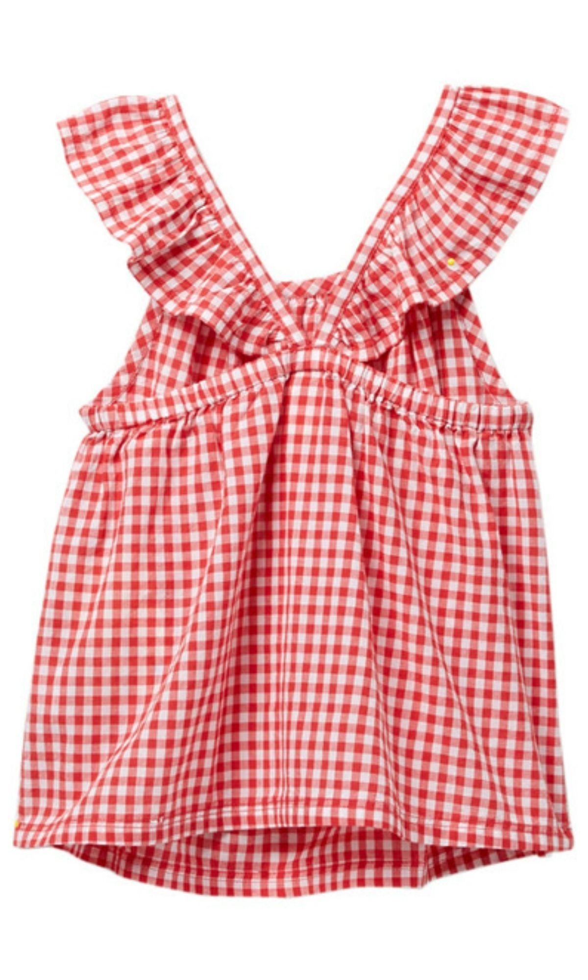 e527c490be11 gingham top for toddlers with a cross back and flutter sleeves #summer  #toddler #affiliate