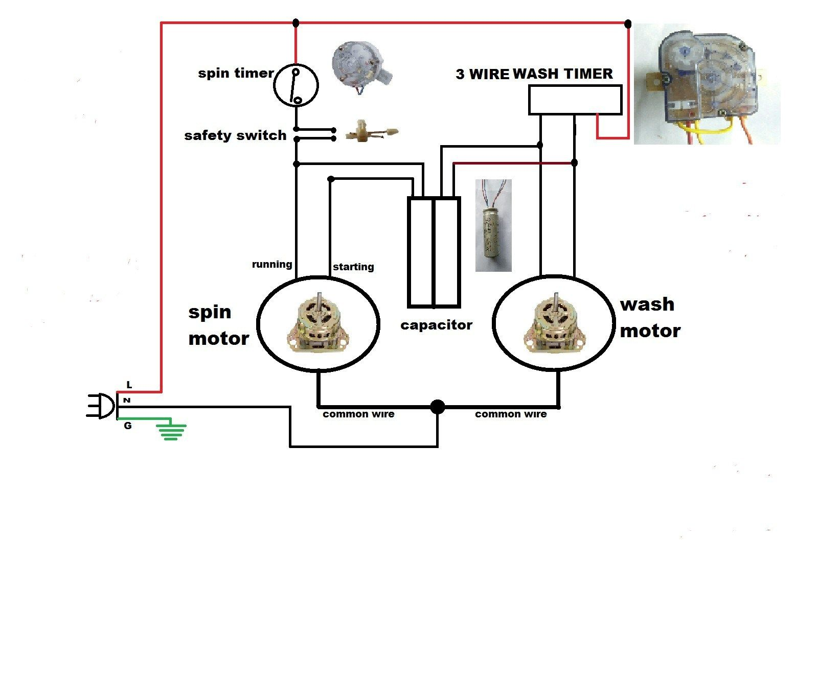 9 Automatic Wiring Diagram Of Washing Machine Timer