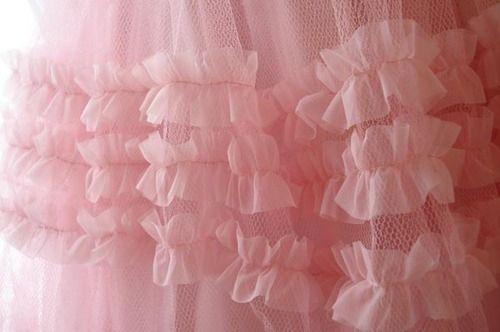 lace, pink, ruffles.