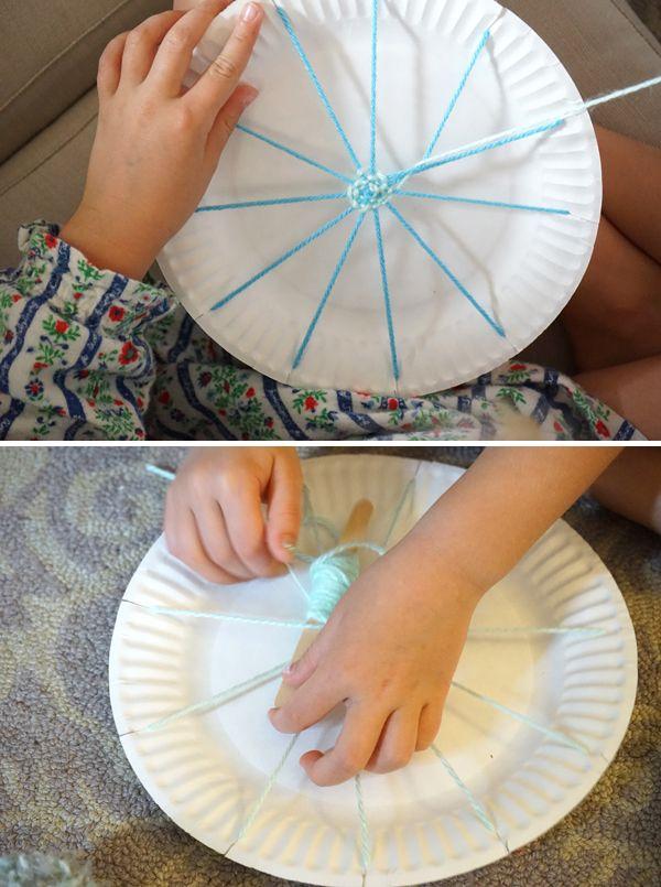 Paper Plate Weaving   Make a Doll Hammock   TinkerLab & Paper Plate Weaving   Dolls Diy baby and DIY ideas
