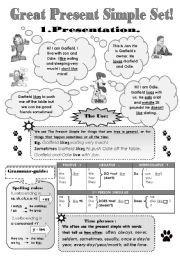 English worksheet: GREAT PRESENT SIMPLE SET! - 5 pages: GRAMMAR ...