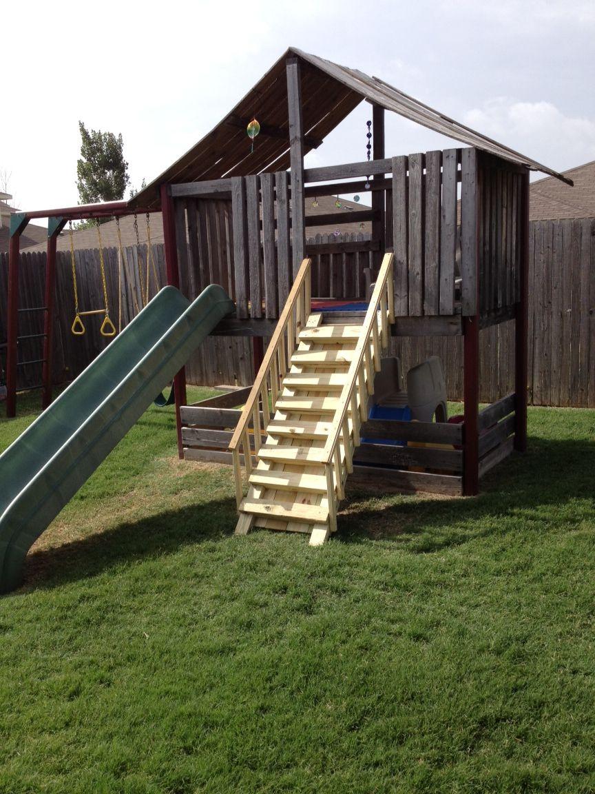 Pallet kids fort ideas for the homestead pinterest for Pallet fort for kids
