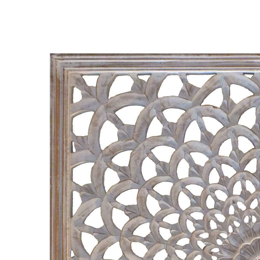 Floral Decorative Design Wall Art Wooden Shape- Wooden Cut Out Home Decor