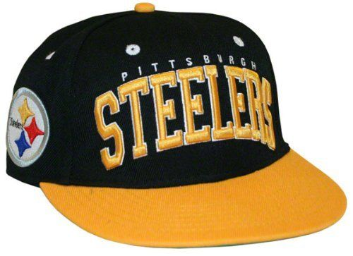 f39fd509eb3 Pittsburgh Steelers Big Text 2 Tone Flatbill Snapback Hat by NFL.  18.74.  Do you