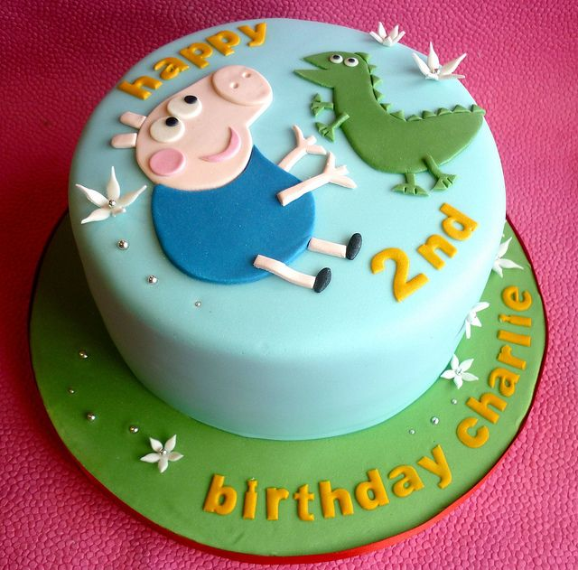 George The Pig And Dinosaur Cake Birthday Cakes Pinterest
