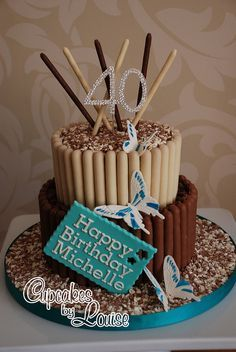 2 tier chocolate finger cake