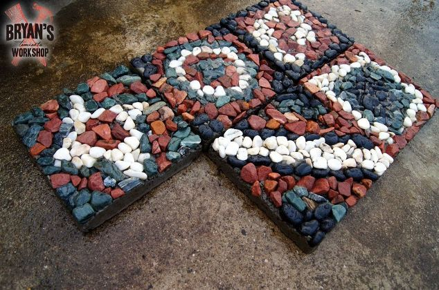 how to make mosaic rock pavers , concrete masonry, gardening, how to, landscape