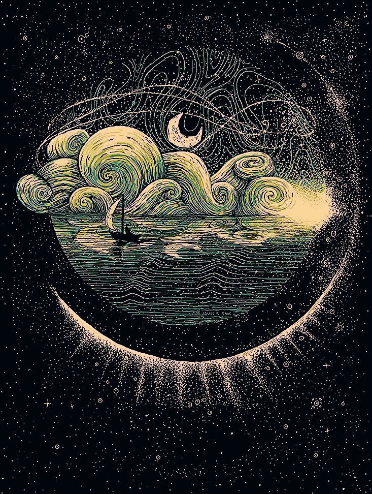 Swirling Illustrations by James R. Eads Explore Human Connections and the Natural World