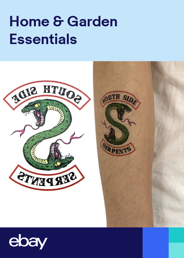 """Riverdale SOUTHSIDE SERPENTS 3/"""" TEMPORARY TATTOO"""