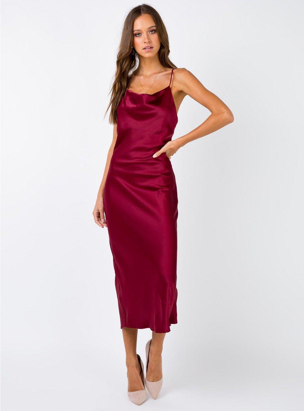 3e5be43496882 Betta Vanore Maxi Dress Burgundy   To Buy in 2019   Dresses, Dresses ...