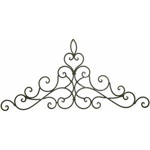 Long Wall Decor - Wrought Iron Door Toppers - Metal Wall Han ...