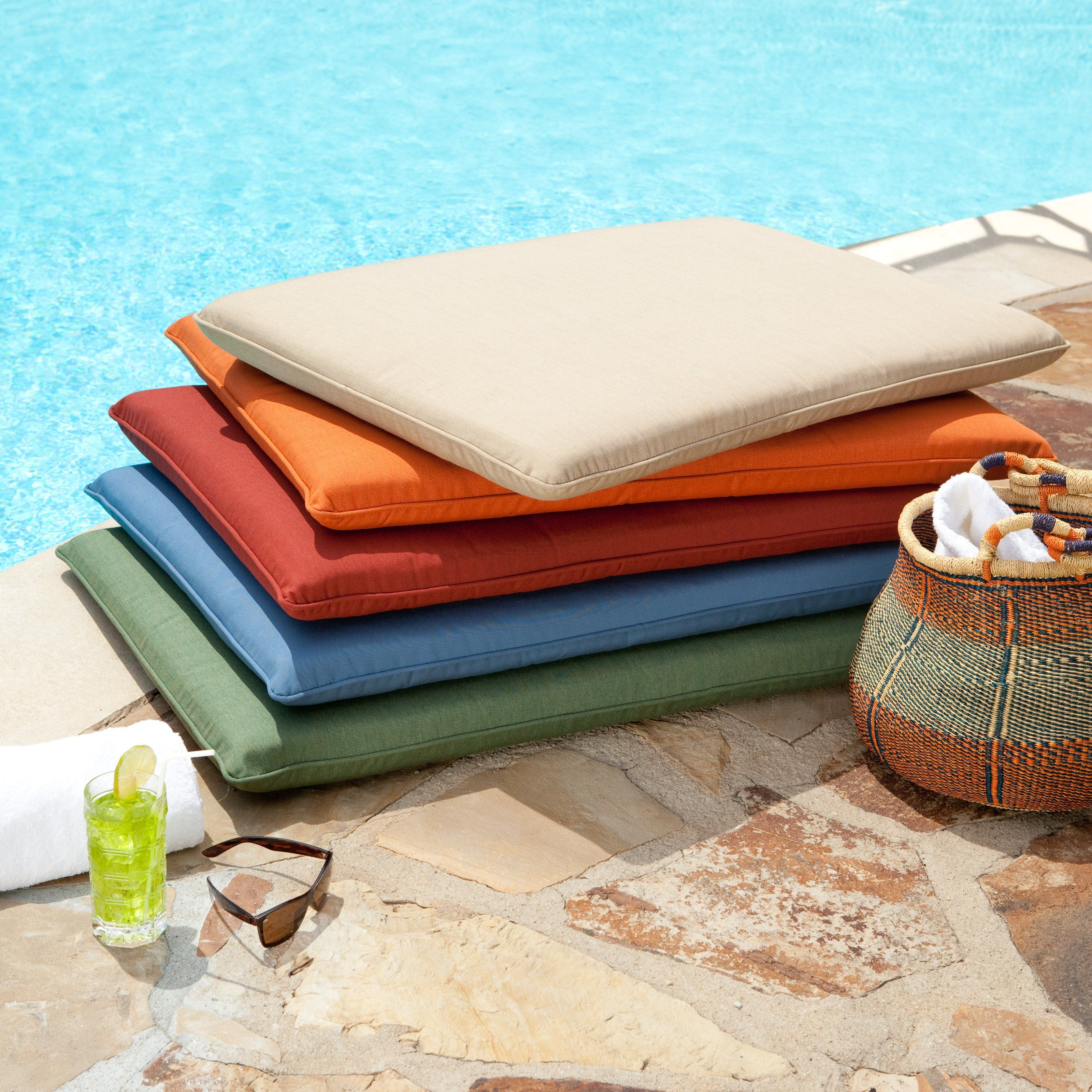 24x24 Outdoor Chair Cushions Have To Have It Sunbrella 36 X 24 Outdoor Pool Cushion