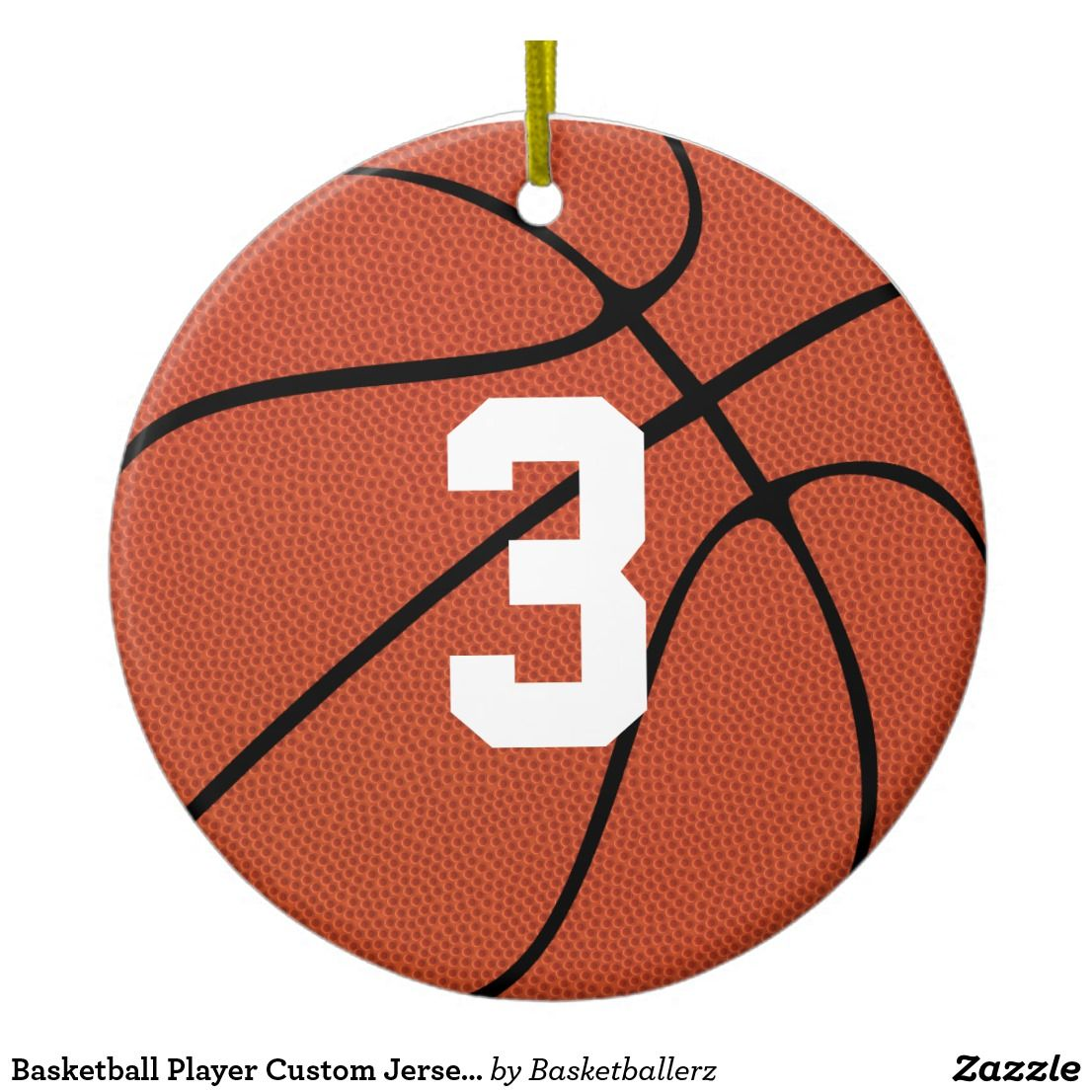 Basketball Player Custom Jersey Number Or Letters Ceramic
