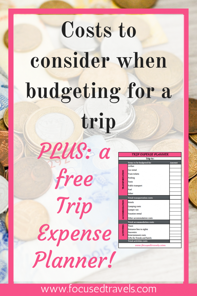 trip expense planner ensuring there are no hidden costs to bite you