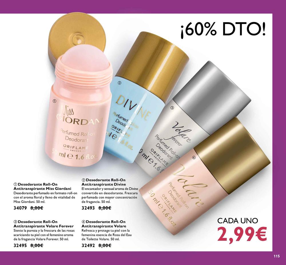 Catálogo Oriflame | Oriflame Cosmetics | Desodorante