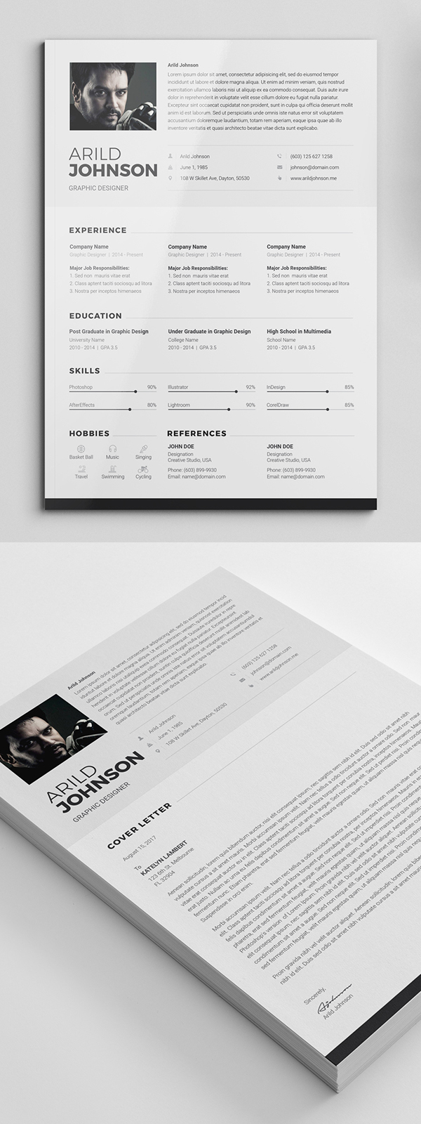 50 Free CV / Resume Templates Best for 2019 in 2020