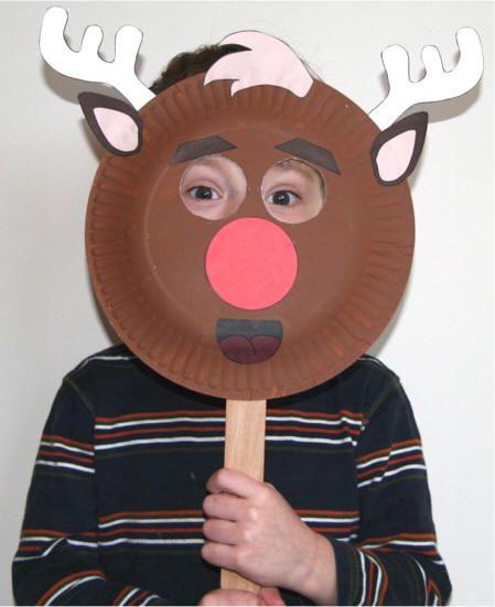 DLTK\'s Crafts for Kids Paper Plate Reindeer Craft | Kids crafts ...