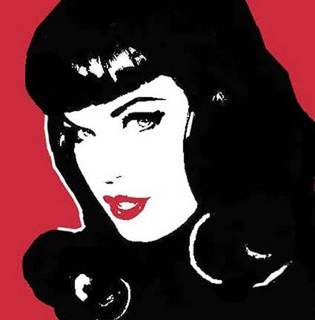 Betty Page Pop Art Images Bettie Page Retro Comic Book